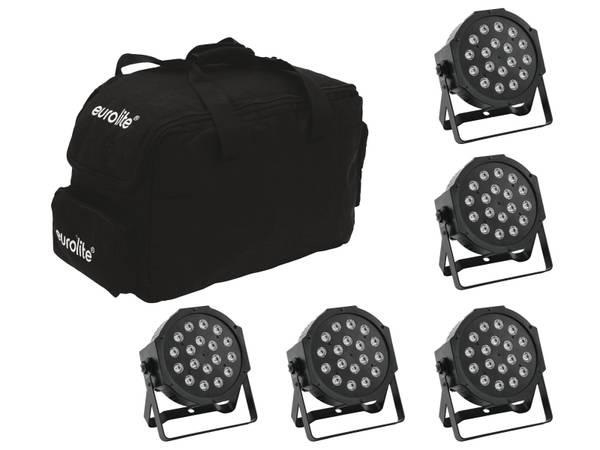 PAKKEPRIS Scenelys 5x LED SLS-180 + Softbag