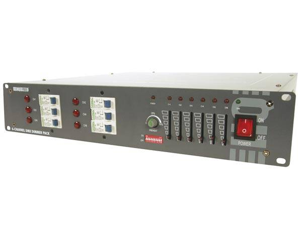 HQ Power VDPDP134, 6-channel DMX dimmer pack (6 x 10A)